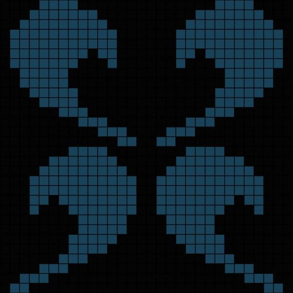 Панно из мозаики D-02 Dark B