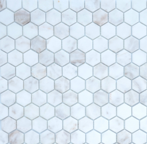Мозаика Dolomiti bianco MAT hex  18x30х6