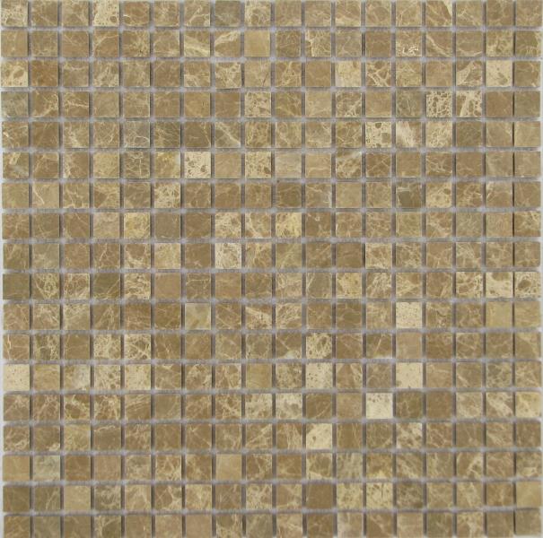 Мозаика Emperador Light MAT 15x15 толщиной 4 мм