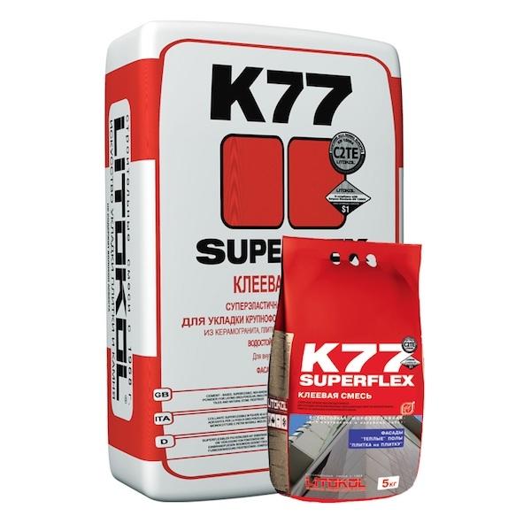 Клеевая смесь SUPERFLEX K77 25 кг