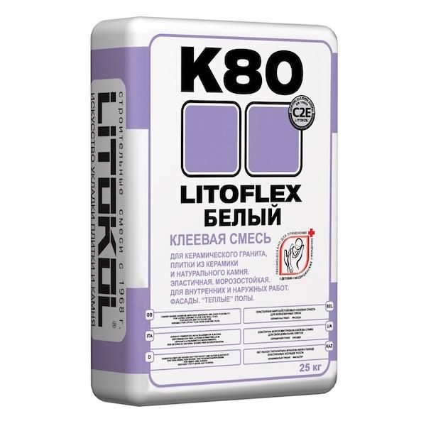 Клеевая смесь LITOFLEX К80 БЕЛЫЙ 25 кг