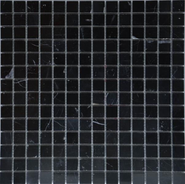 Мозаика M021P/Black marquina