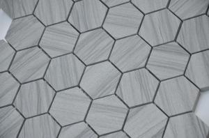 Мозаика Marmara grey POL hex  23x40x8