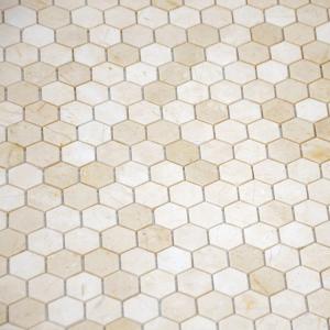 Мозаика Crema Marfil MAT hex  18x30x6