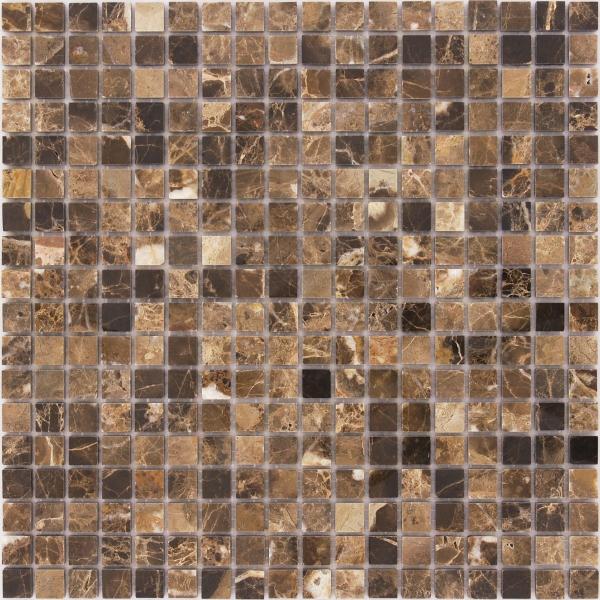 Мозаика Emperador Dark 15x15 толщина 4 мм