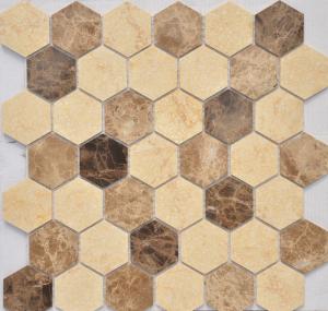 Мозаика Pietra Mix 1 MAT hex  18x30x6