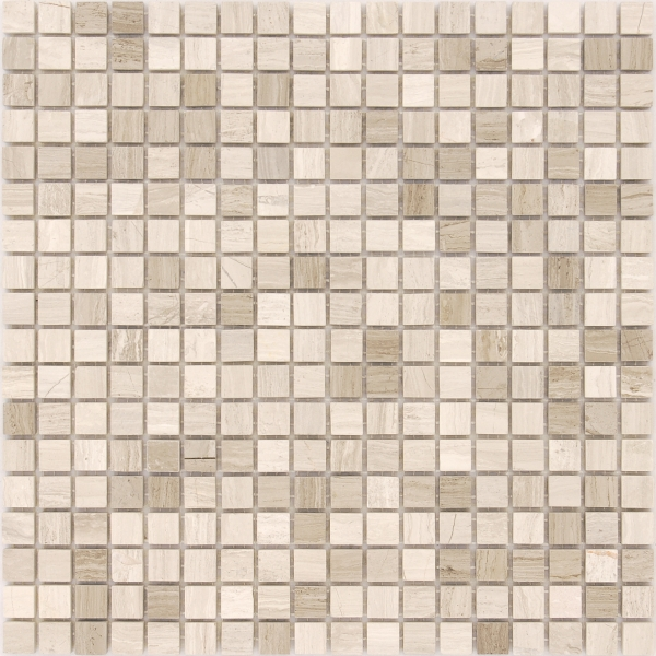 Мозаика Travertino Silver MAT 15x15 толщиной 4 мм