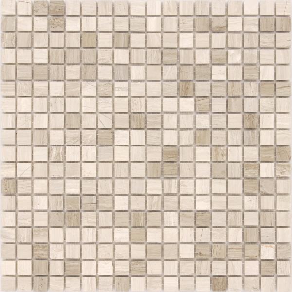 Мозаика Travertino Silver POL 15x15 толщиной 4 мм