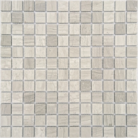 Мозаика Travertino Silver MAT 23x23 толщиной 4 мм