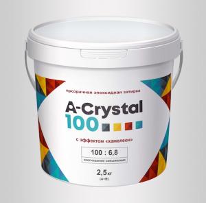 """Прозрачная эпоксидная затирка A-Crystal 100  с эффектом """"хамелеон"""""""